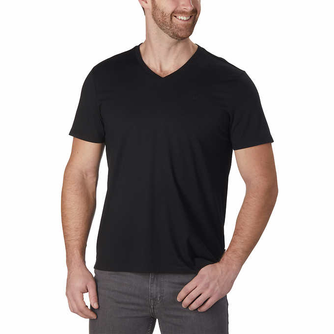 dedfaab2 Calvin Klein Men's Liquid Touch Short Sleeve V-Neck Tee