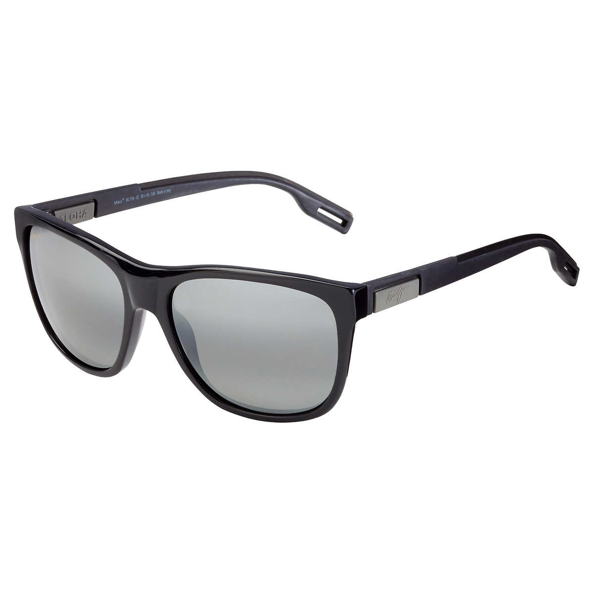 0e77b1e5e19b ... Maui Jim Howzit 734-02 Gloss Black Polarized Sunglasses. 1 1