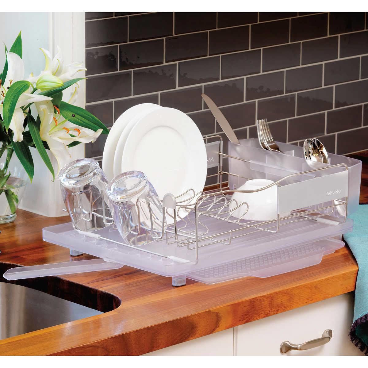 Dish Rack.Polder Stainless Steel Dish Rack