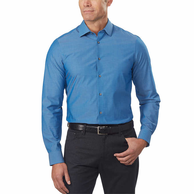 8ad12b79 Calvin Klein Men's 4-way Stretch Dress Shirt