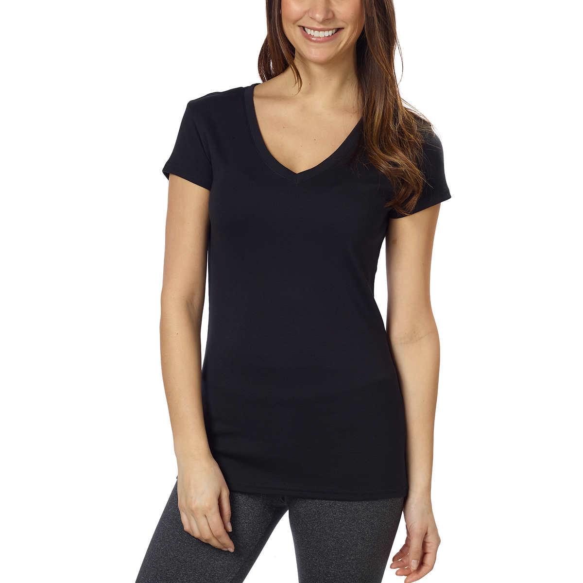 Kirkland Mens size M Cotton V-Neck Basic T-Shirt Tee White Solid Shirt Sale CHOP