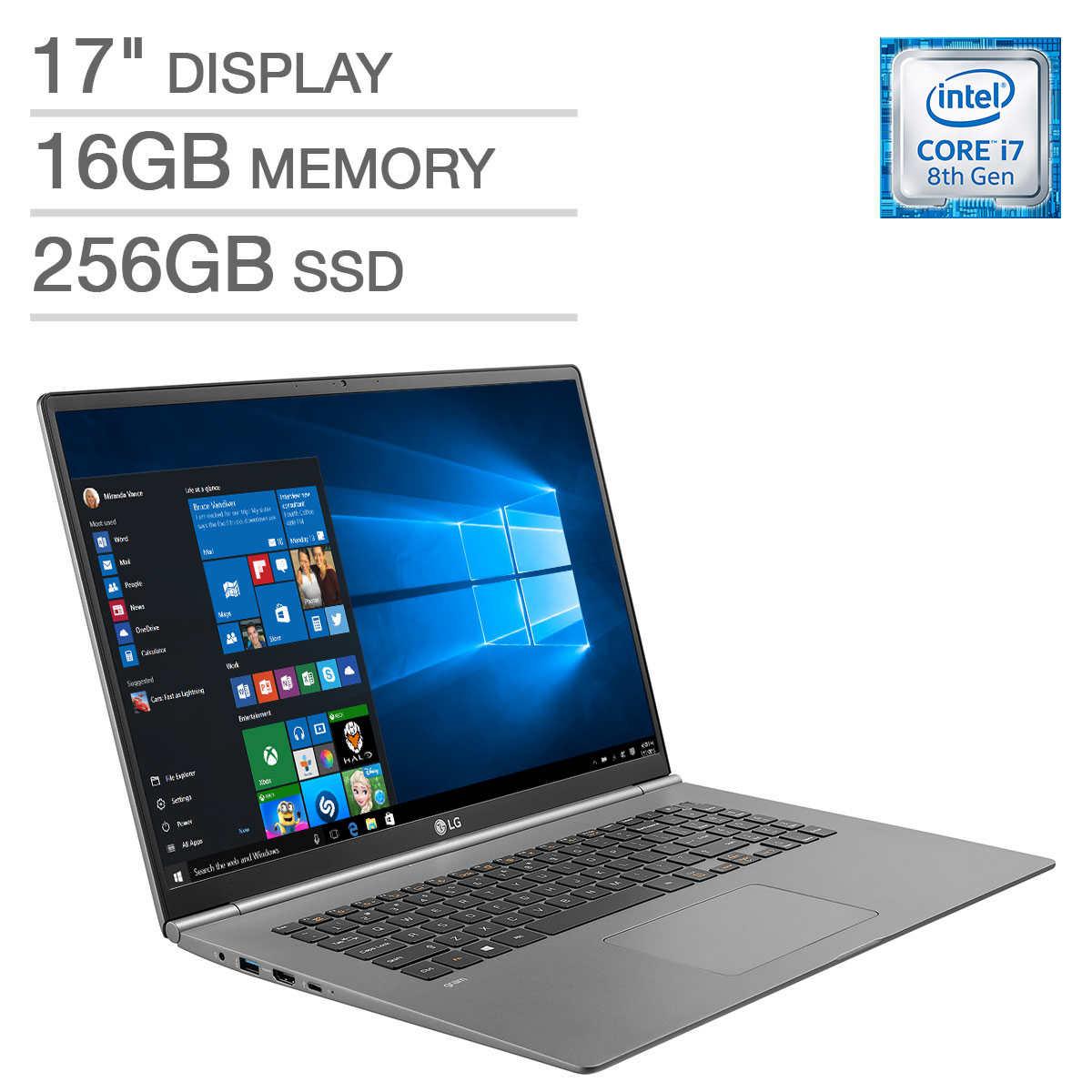 LG Gram 17 Laptop - Intel Core i7 - WQXGA (2560 x 1600) - Ultra Thin and  Light at 2 95lbs