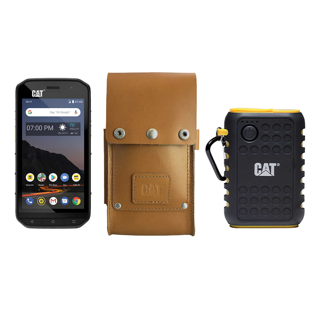 CAT Rugged S48C Unlocked Smartphone Bundle