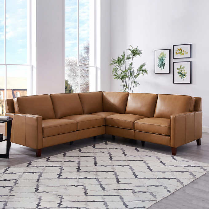 Wondrous West Park Leather Sectional Forskolin Free Trial Chair Design Images Forskolin Free Trialorg