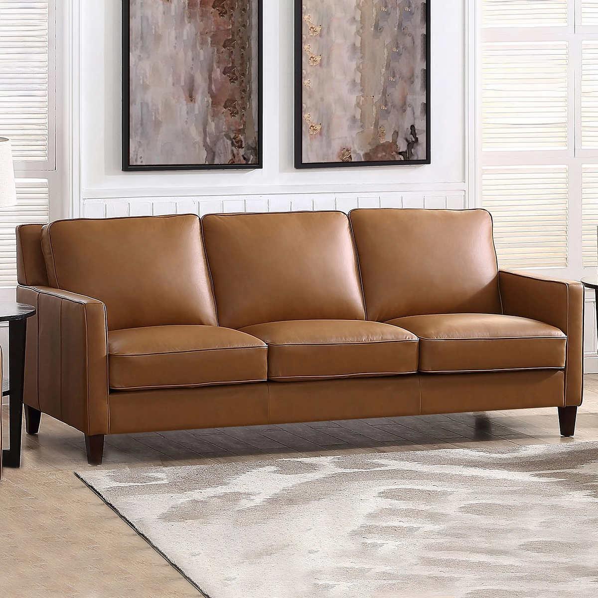 West Park Leather Sofa