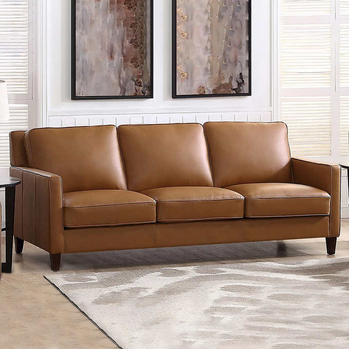 West Park Leather Sofa