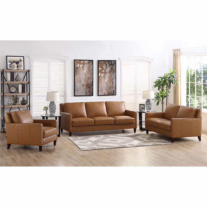 Strange West Park 3 Piece Leather Set Unemploymentrelief Wooden Chair Designs For Living Room Unemploymentrelieforg