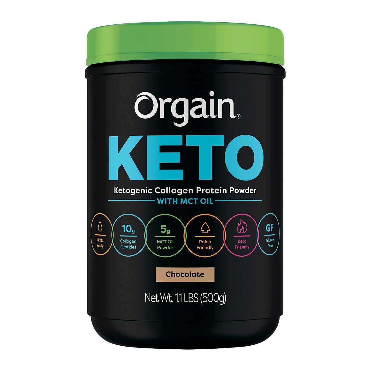 Orgain Keto Collagen Protein Chocolate, 1 1 lbs