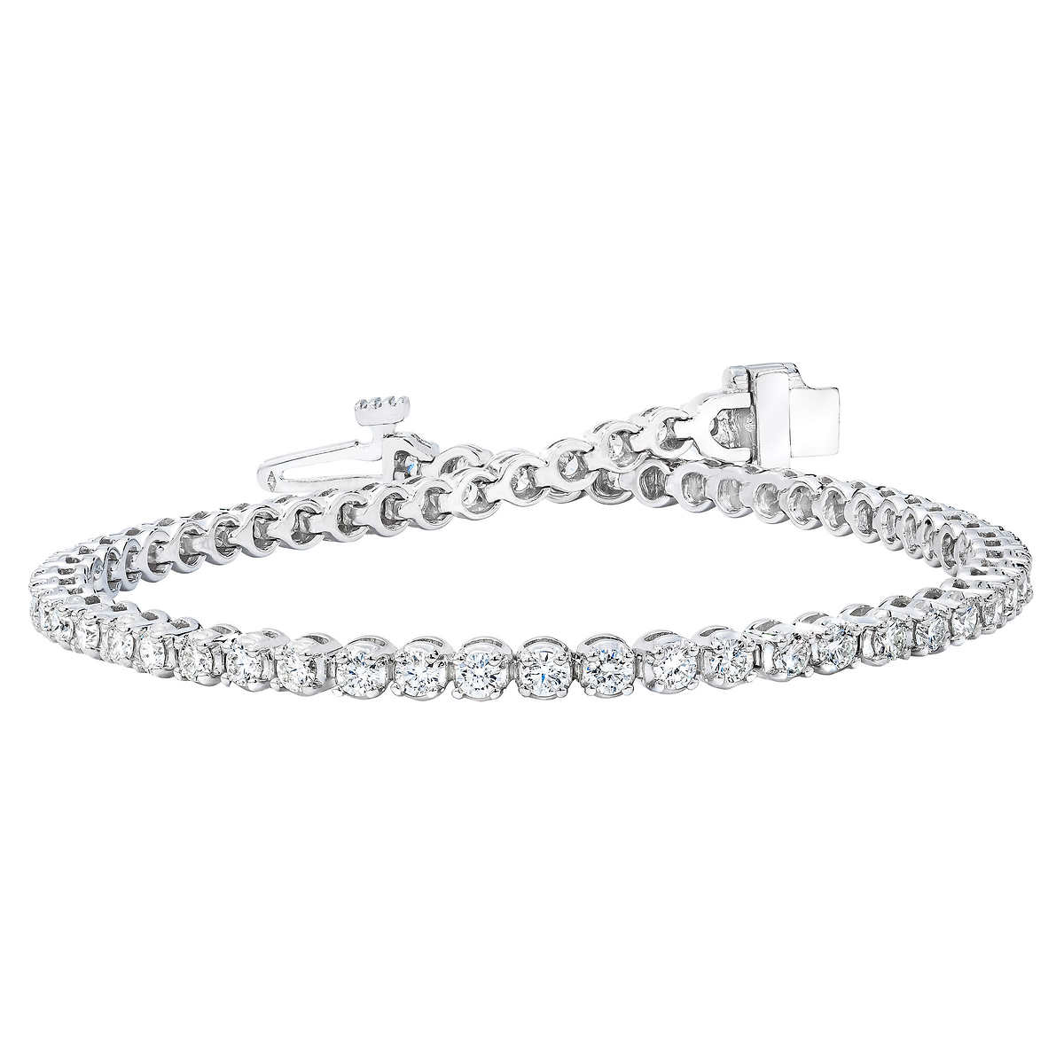 a71736966 ... Round Brilliant 2.00 ctw VS2 Clarity, I Color Diamond 14kt White Gold  Bracelet. 1 1