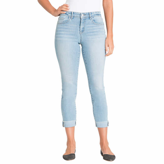 e139579c136a7f Jessica Simpson Ladies' Relaxed Skinny Roll Crop Jean