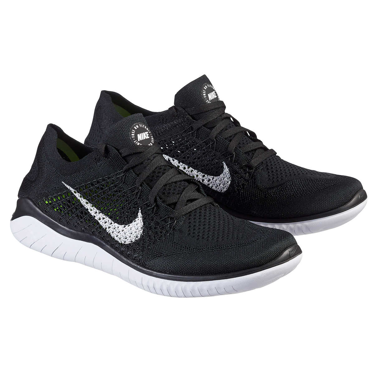 brand new 9accf faf34 ... Nike Men s Free Run Flyknit Shoe. black 1 black 1