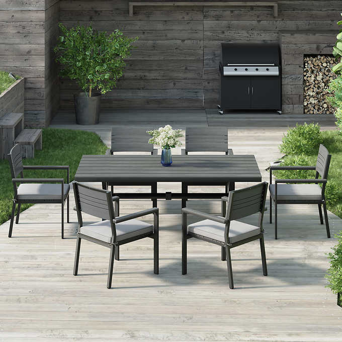 Brilliant Colonial 7 Piece Dining Set Machost Co Dining Chair Design Ideas Machostcouk
