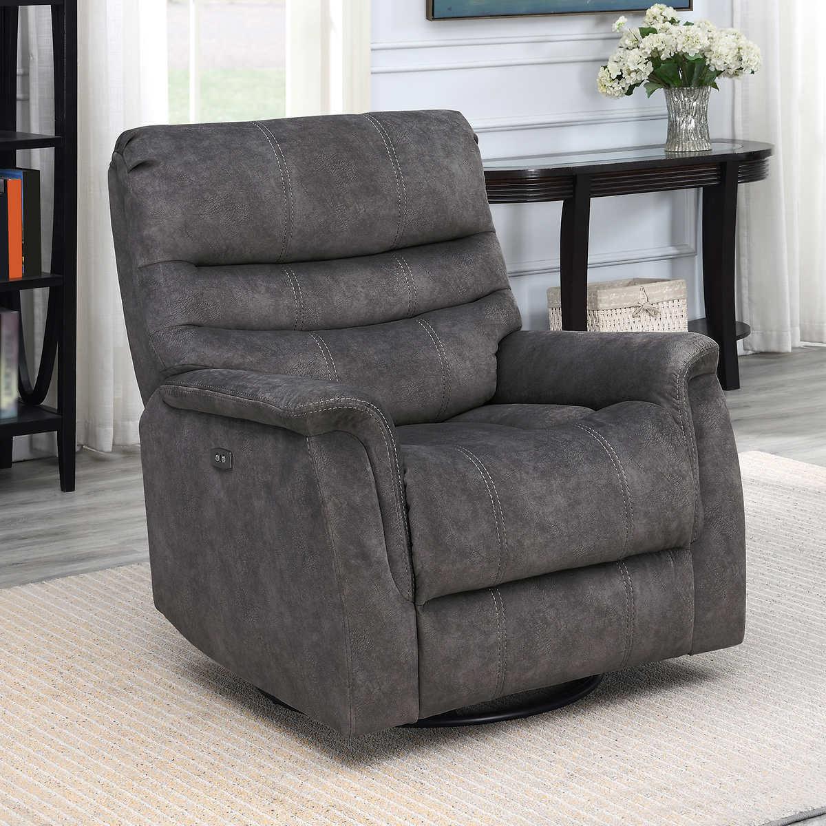 Enjoyable Thomasville Felix Fabric Power Swivel Glider Recliner Gamerscity Chair Design For Home Gamerscityorg