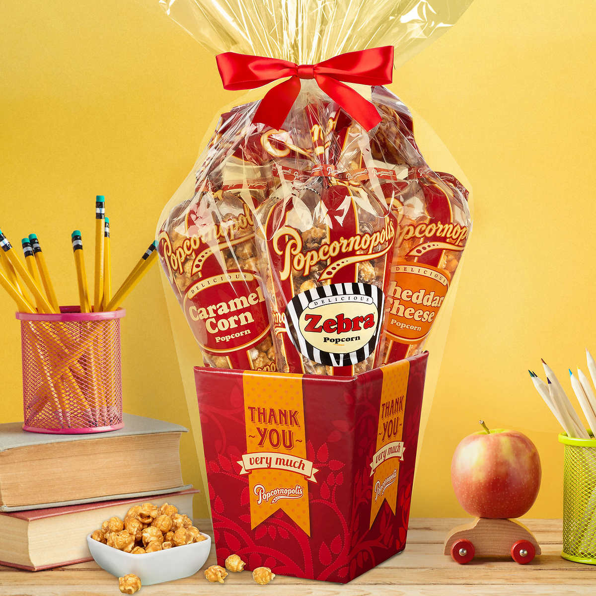 Popcornopolis Special Occasions 5 Cone Popcorn Gift Baskets