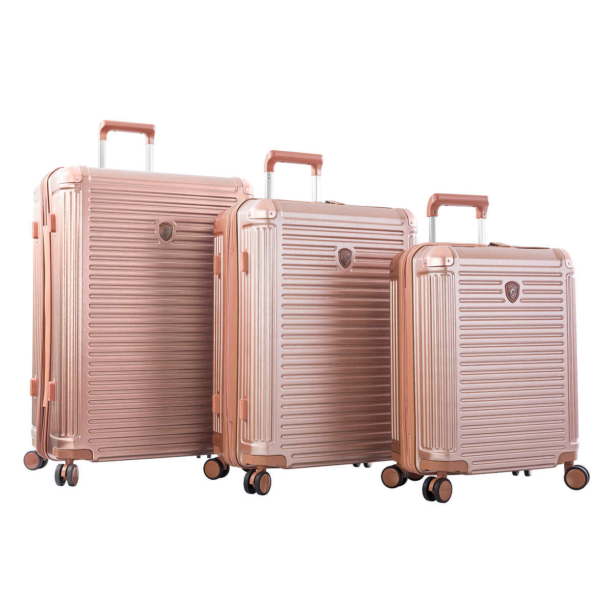 Personalized Houndstooth w//Pink Accent Suitcase Checked 24Medium