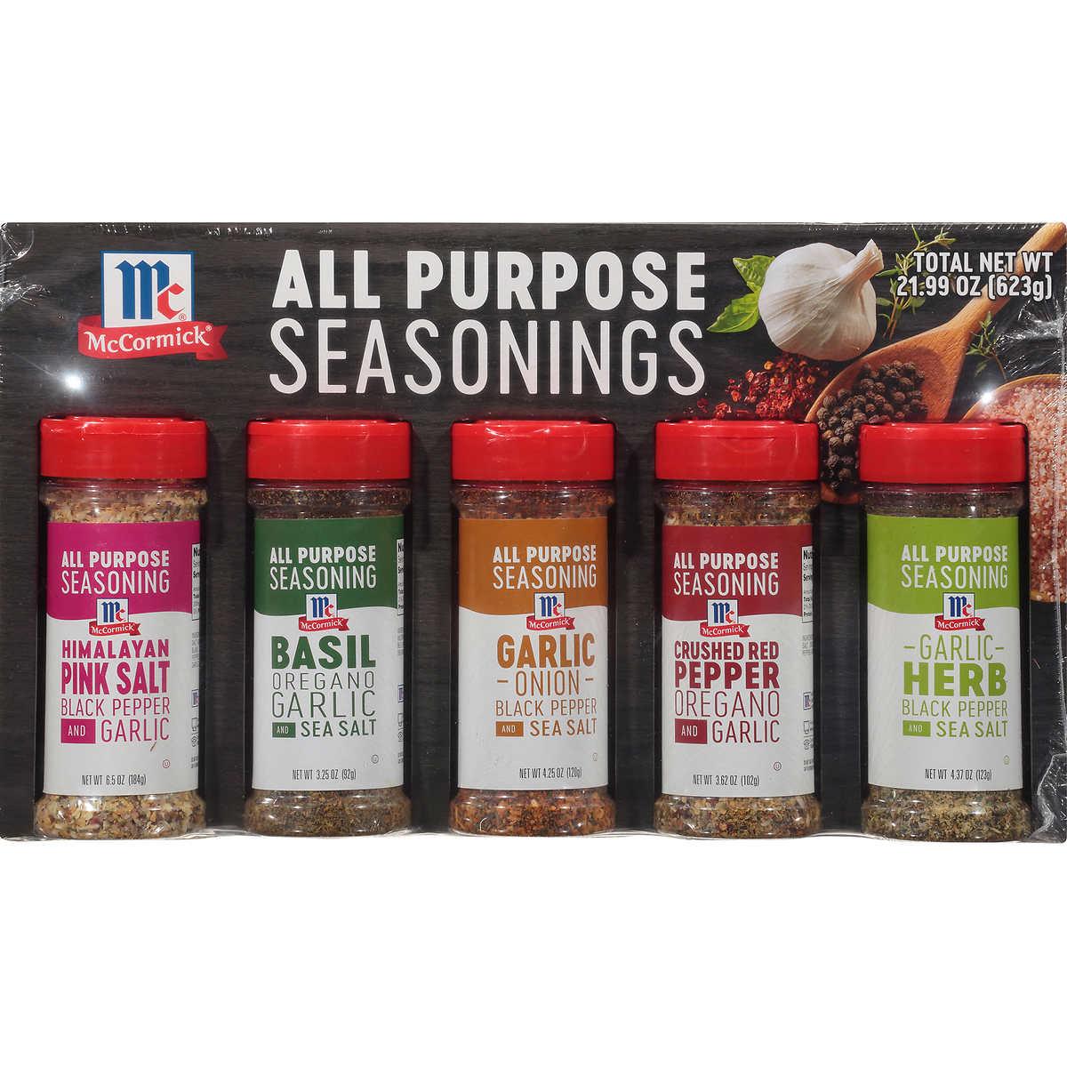McCormick All Purpose Seasonings, Variety Pack, 5-count