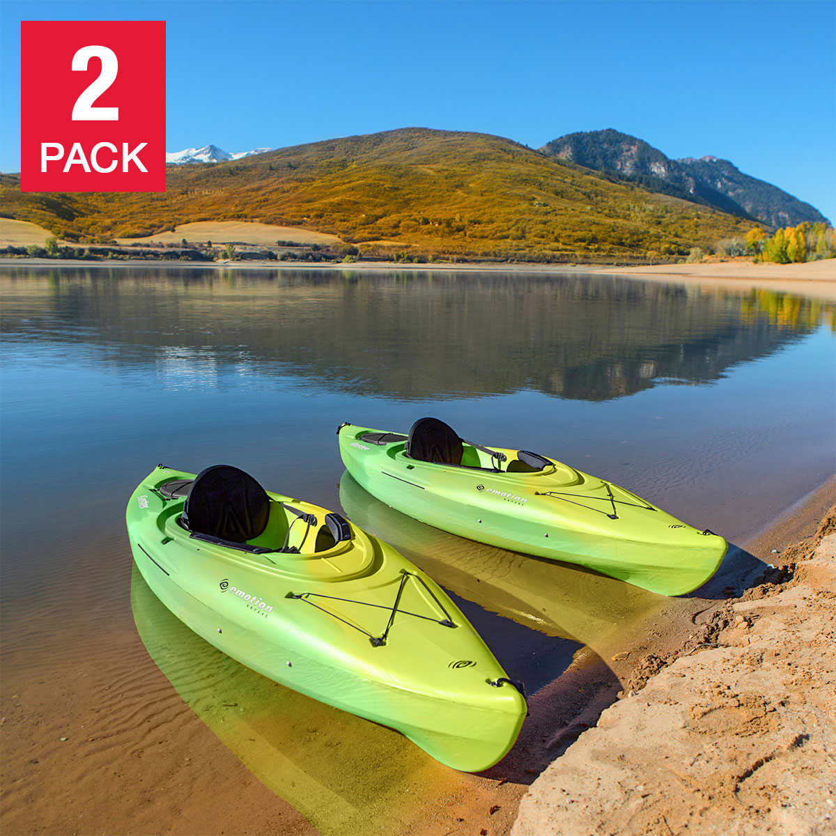 Lifetime Guster 10ft Sit In Kayak, 2-pack