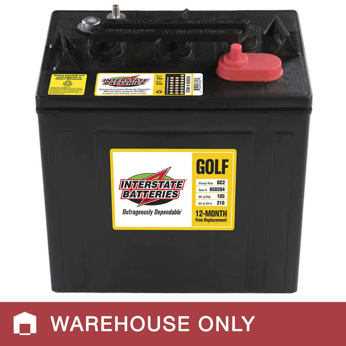 Costco Marine Battery >> Interstate 6 Volt Golf Cart Battery