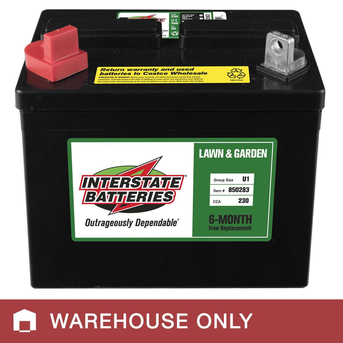 Interstate U1 Lawn Garden Battery