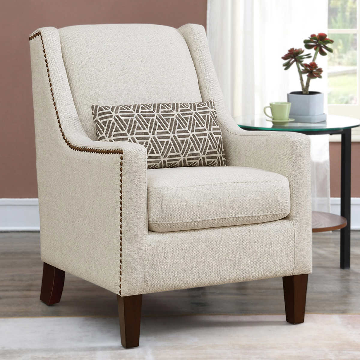 Sophia Fabric Accent Chair