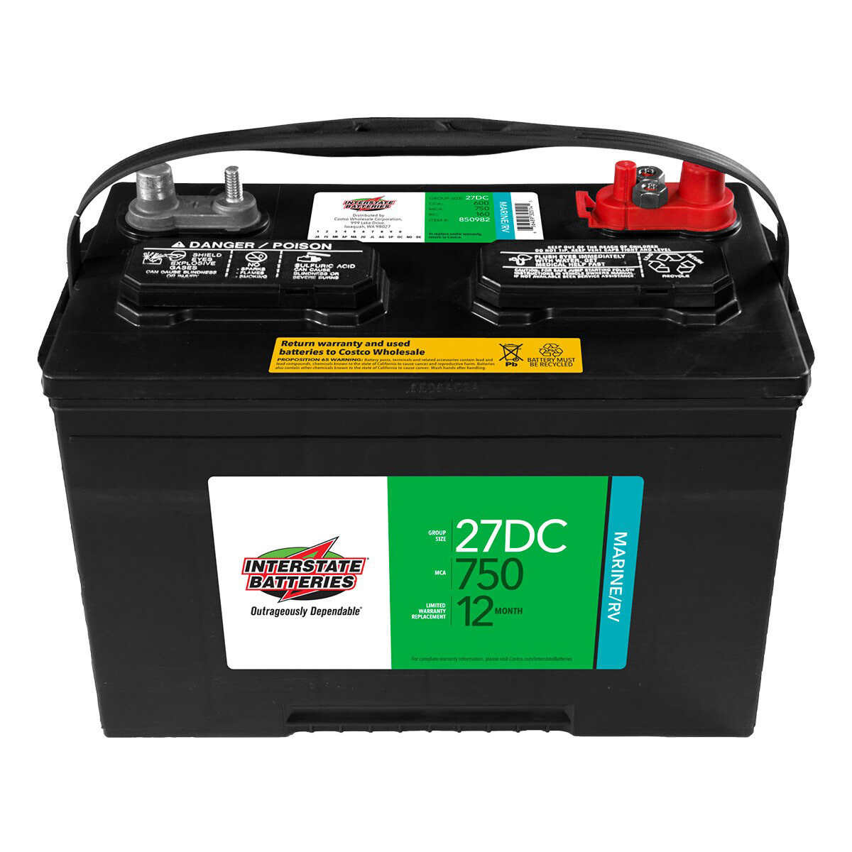 Costco Marine Battery >> Interstate 27dc Marine Rv Battery