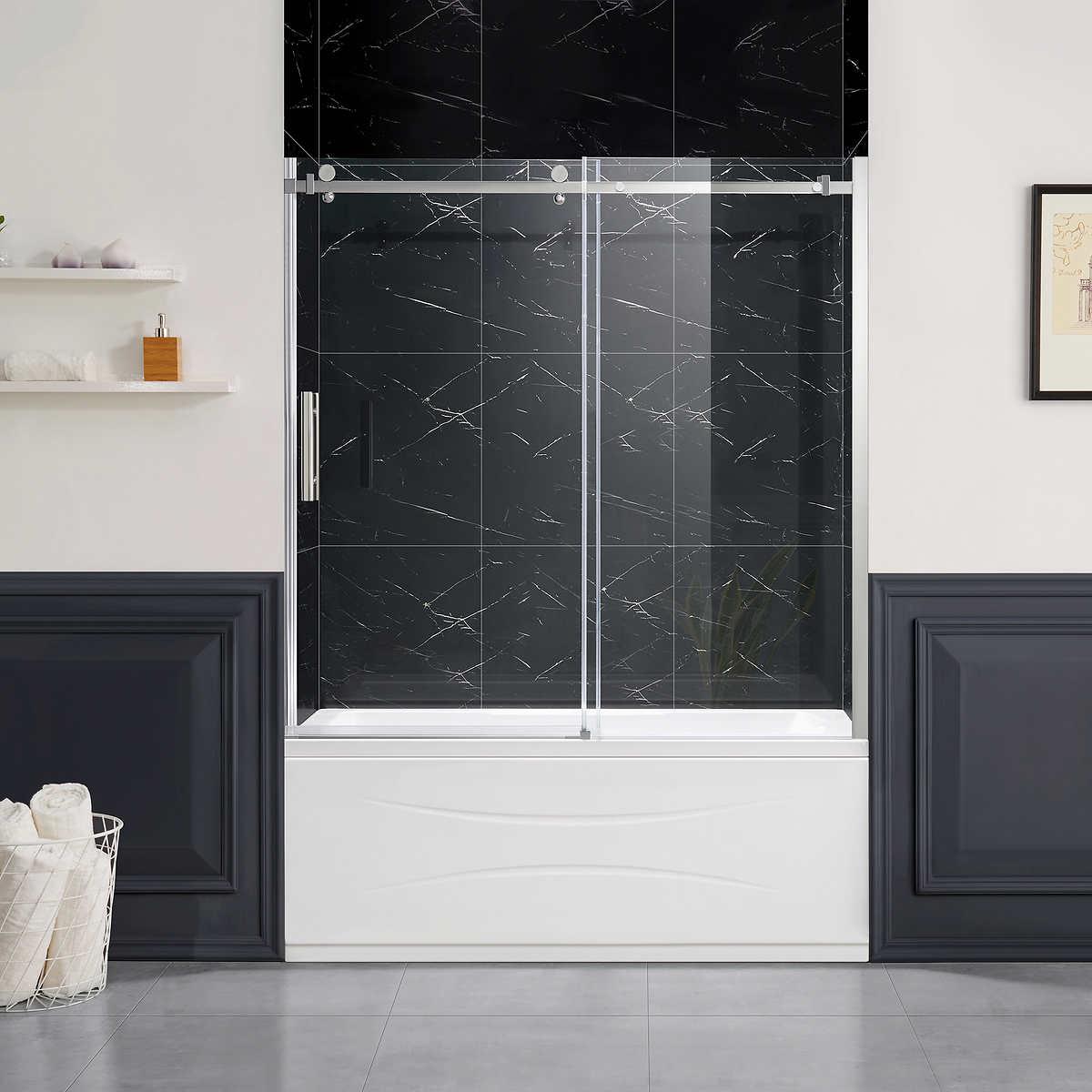 Bathroom Sliding Glass Shower Doors.Park 60 Tub Sliding Glass Door By Ove