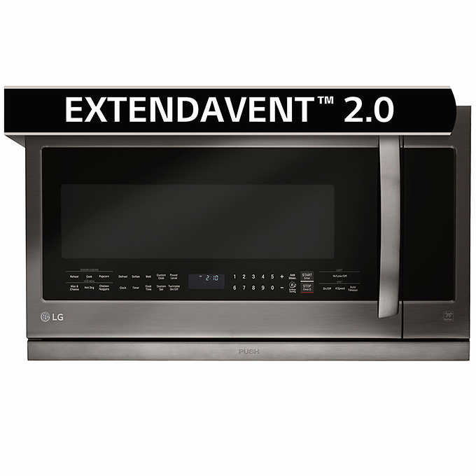 Lg 2 2cuft Over The Range Microwave Oven Blackstainlesssteel 1