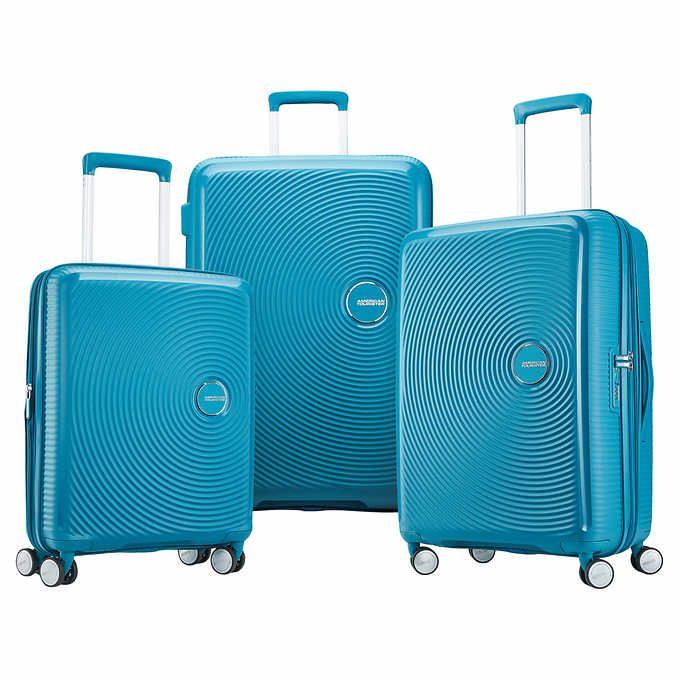 c5f9606b6 ... American Tourister Curio 3-piece Hardside Spinner Luggage Set. blue 1  blue 1
