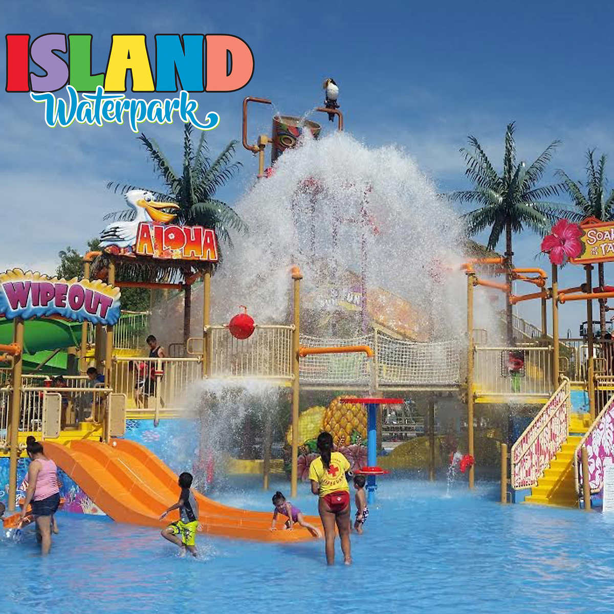 Island Waterpark Single Day Admission with Unlimited Fountain Soda Refills,  eTicket, Fresno, California