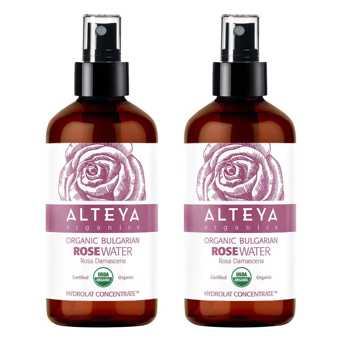 Alteya Organics Bulgarian Rose Water 8 0 fl oz, 2-pack