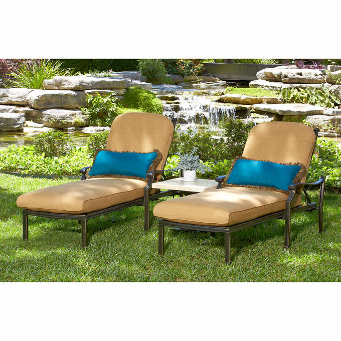 Cool Tivoli 3 Piece Chaise Lounge Set Machost Co Dining Chair Design Ideas Machostcouk