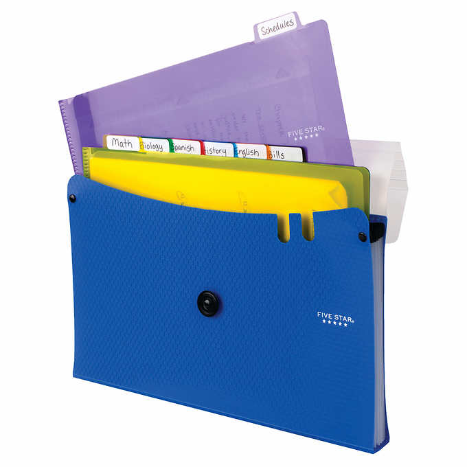 a9a8509f2956 Five Star 7-Pocket Expanding File with Four 2-Pocket Folders