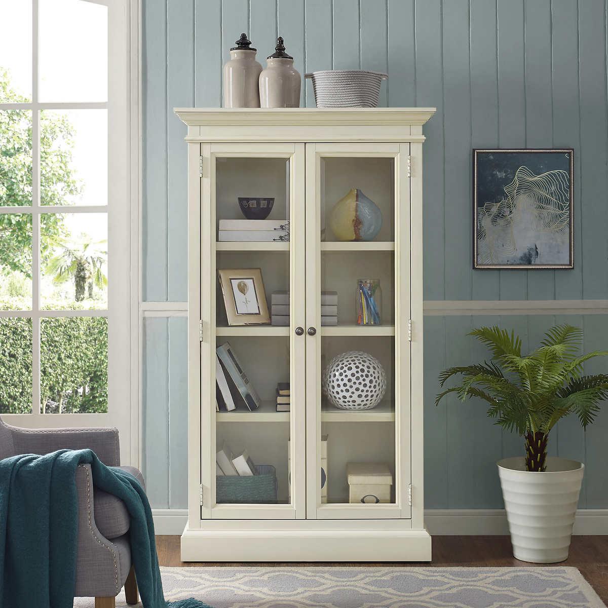 Universal Broadmoore Elida 66 Glass Door Bookcase