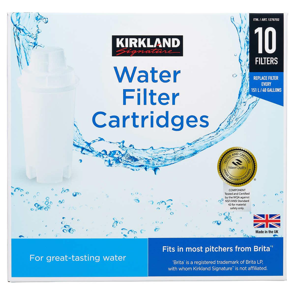 Kirkland Signature Water Filter Cartridge, 10-pack set