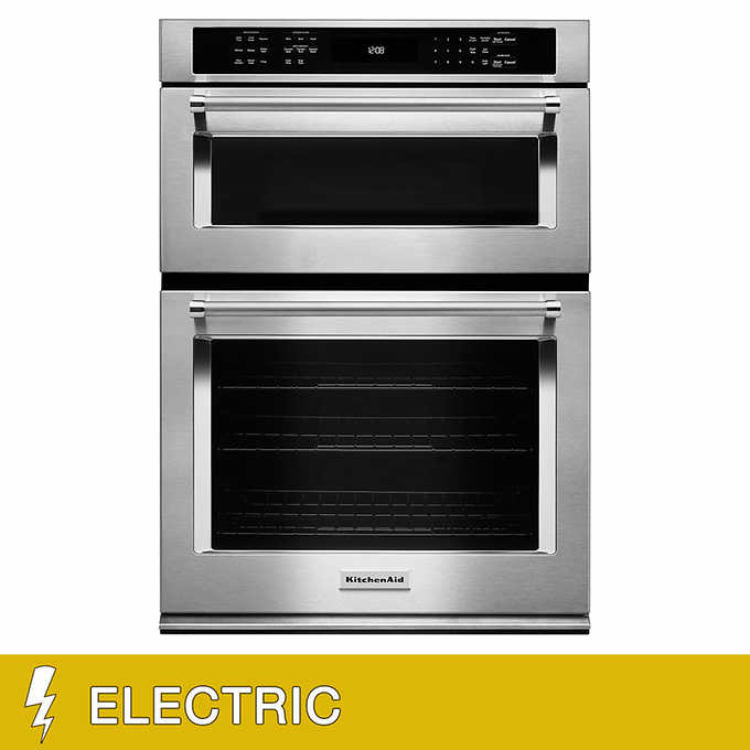 Kitchenaid 30 Electric Wall Oven With Even Heat True Convection And Built In Microwave Crispwave Technology