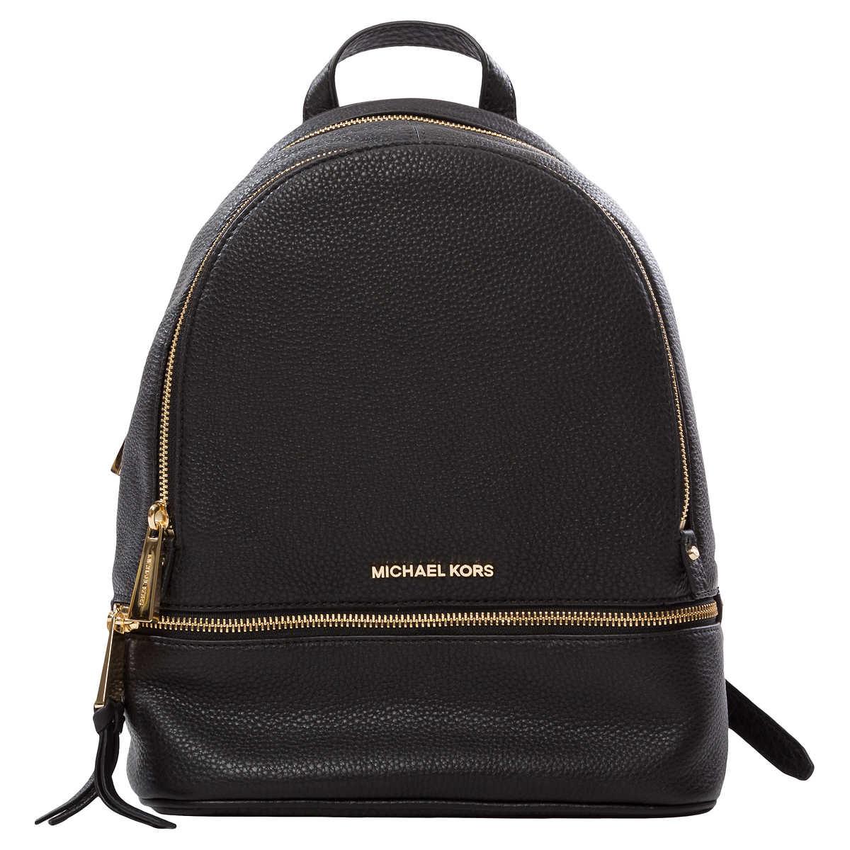 afab2b6359f7 Michael Kors Rhea Medium Backpack, Black