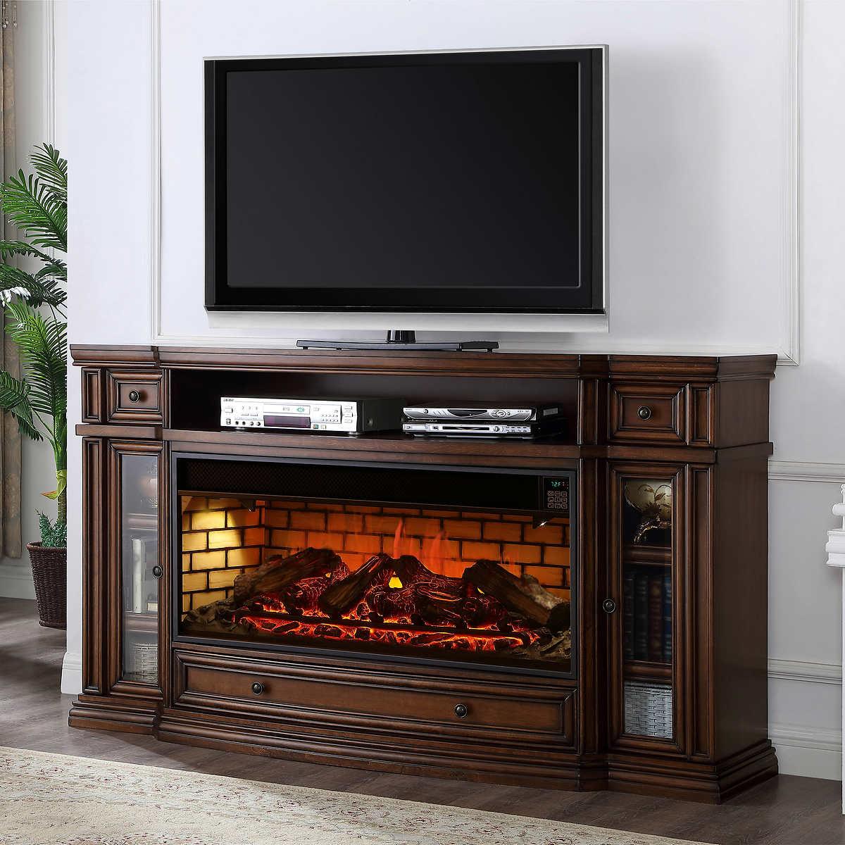 80 Inch Tv Stand With Fireplace Smartvradar Com