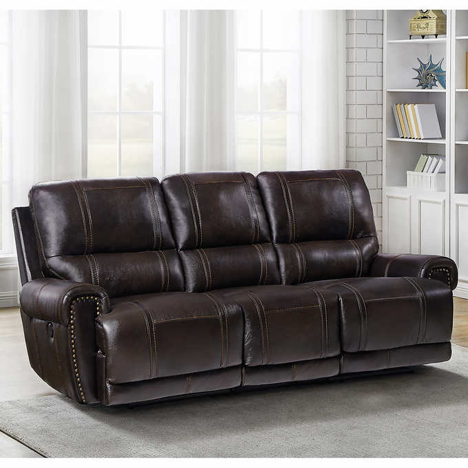 Pleasant Millcroft Leather Power Reclining Sofa Pabps2019 Chair Design Images Pabps2019Com