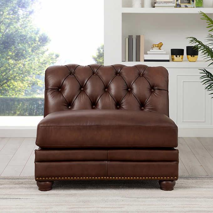 Fine Allington Top Grain Leather Armless Chair Pabps2019 Chair Design Images Pabps2019Com