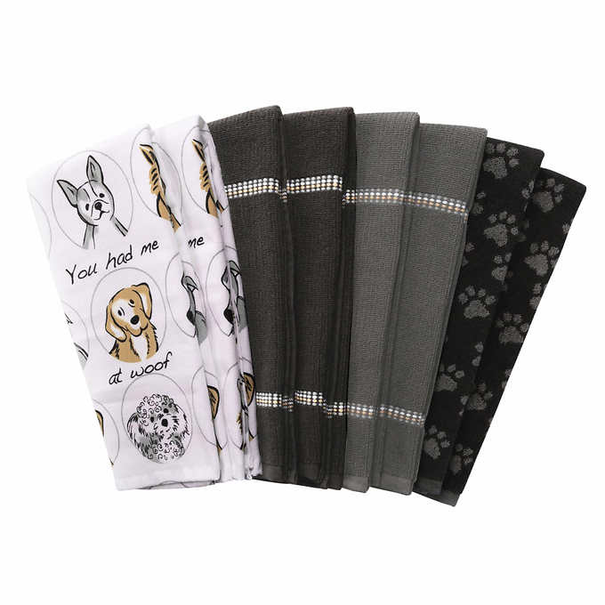 Culinary Classic Kitchen Towel Set, 8-pack