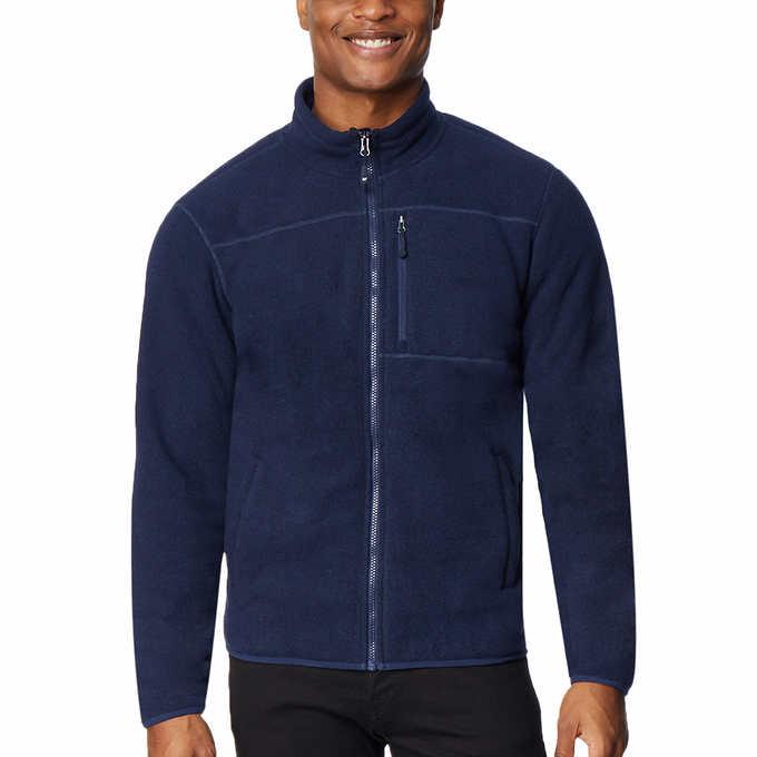 32 Degrees Men's Sherpa Lined Fleece Jacket