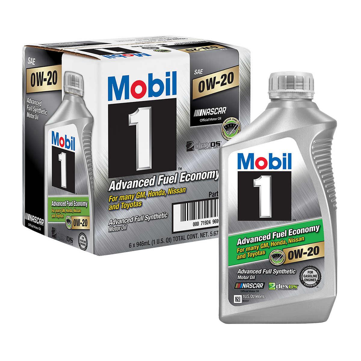 Mobil 1 full synthetic motor oil 0w 20