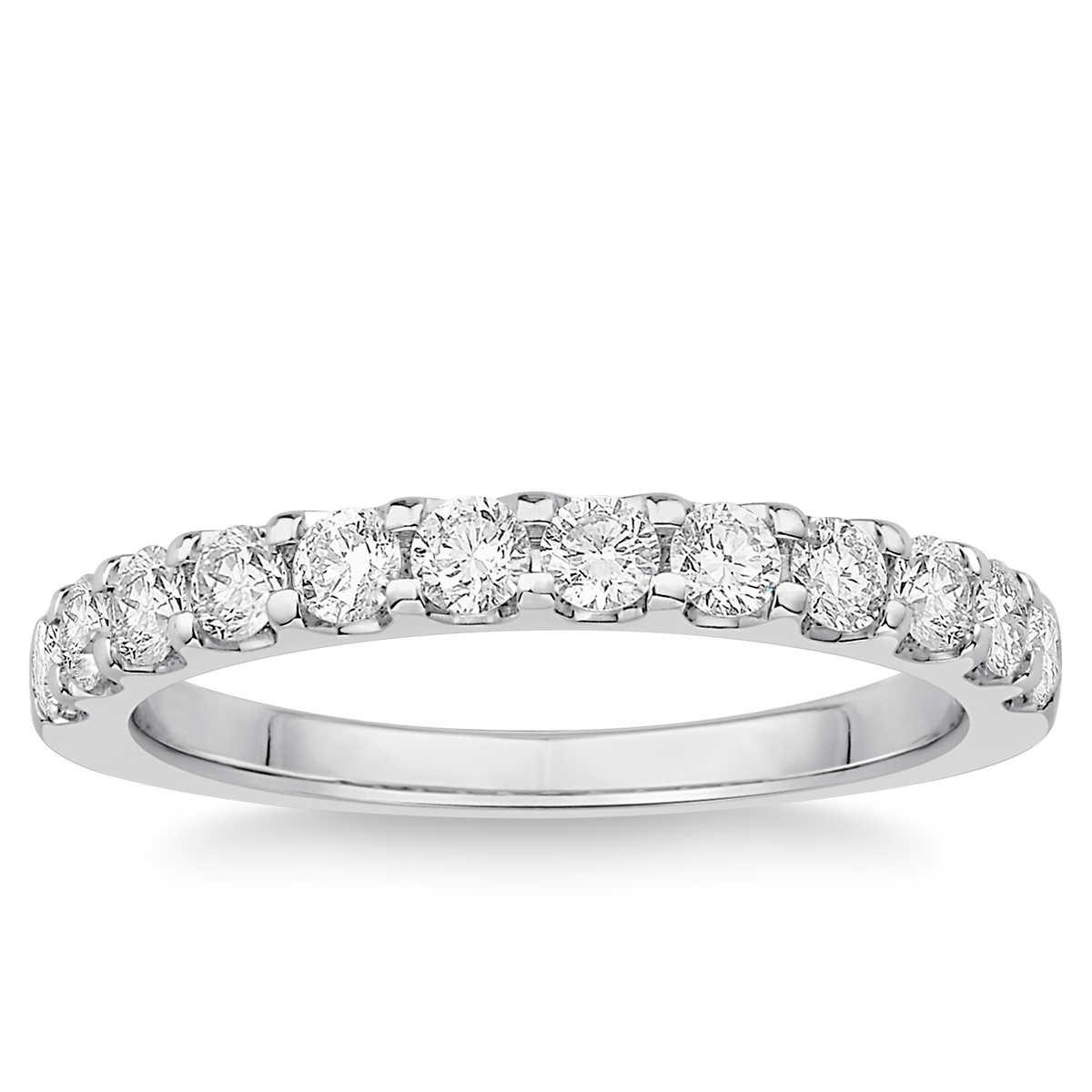 round brilliant 063 ctw vs2 clarity i color diamond platinum band - Costco Wedding Rings