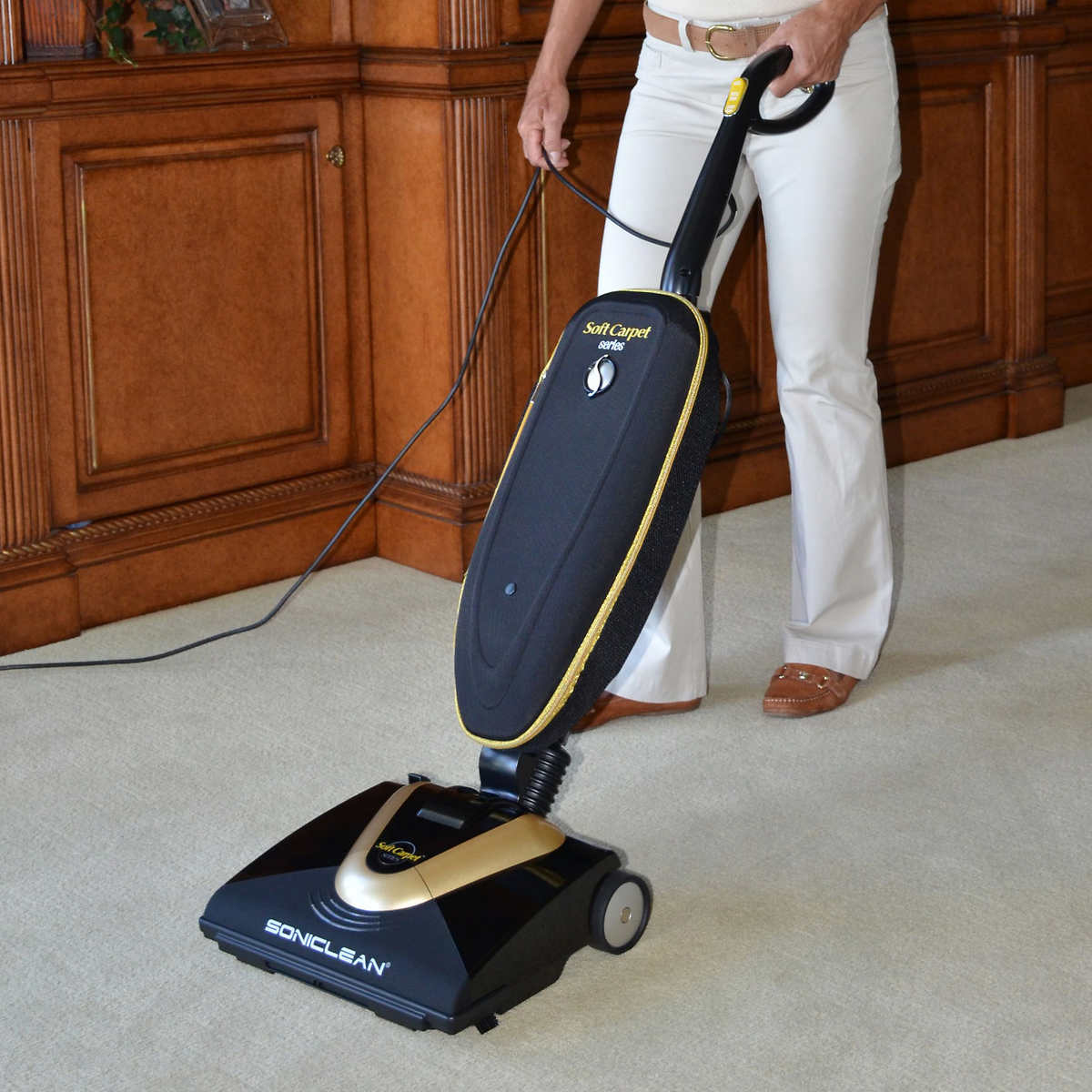 Vacuums floor care costco soniclean soft carpet upright vacuum with sonic cleaning technology baanklon Images