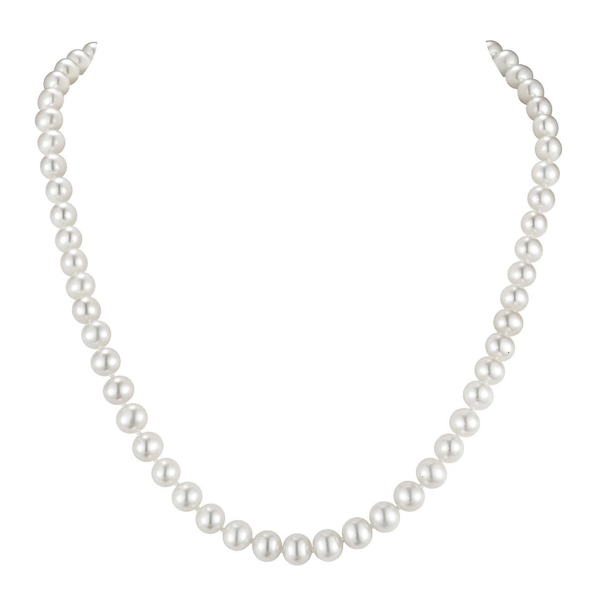 Freshwater 65  7 Mm Cultured White Pearl 14kt Yellow Gold Strand