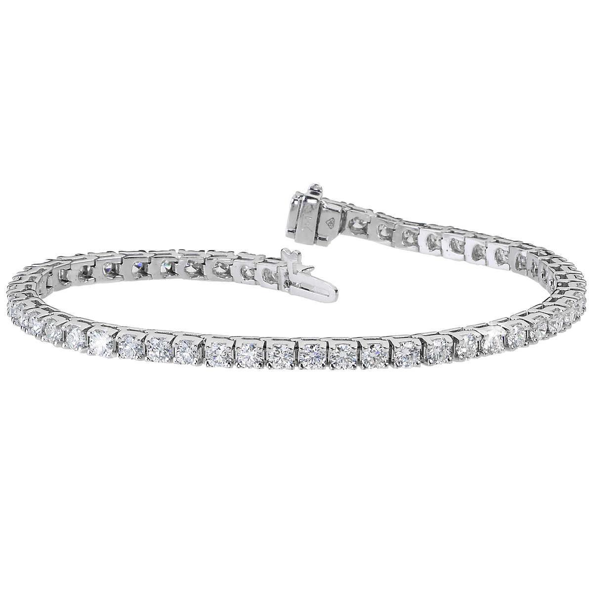396138f4d ... Round Brilliant 5.00 ctw VS2 Clarity, I Color Diamond 14kt White Gold  Bracelet. 1 1