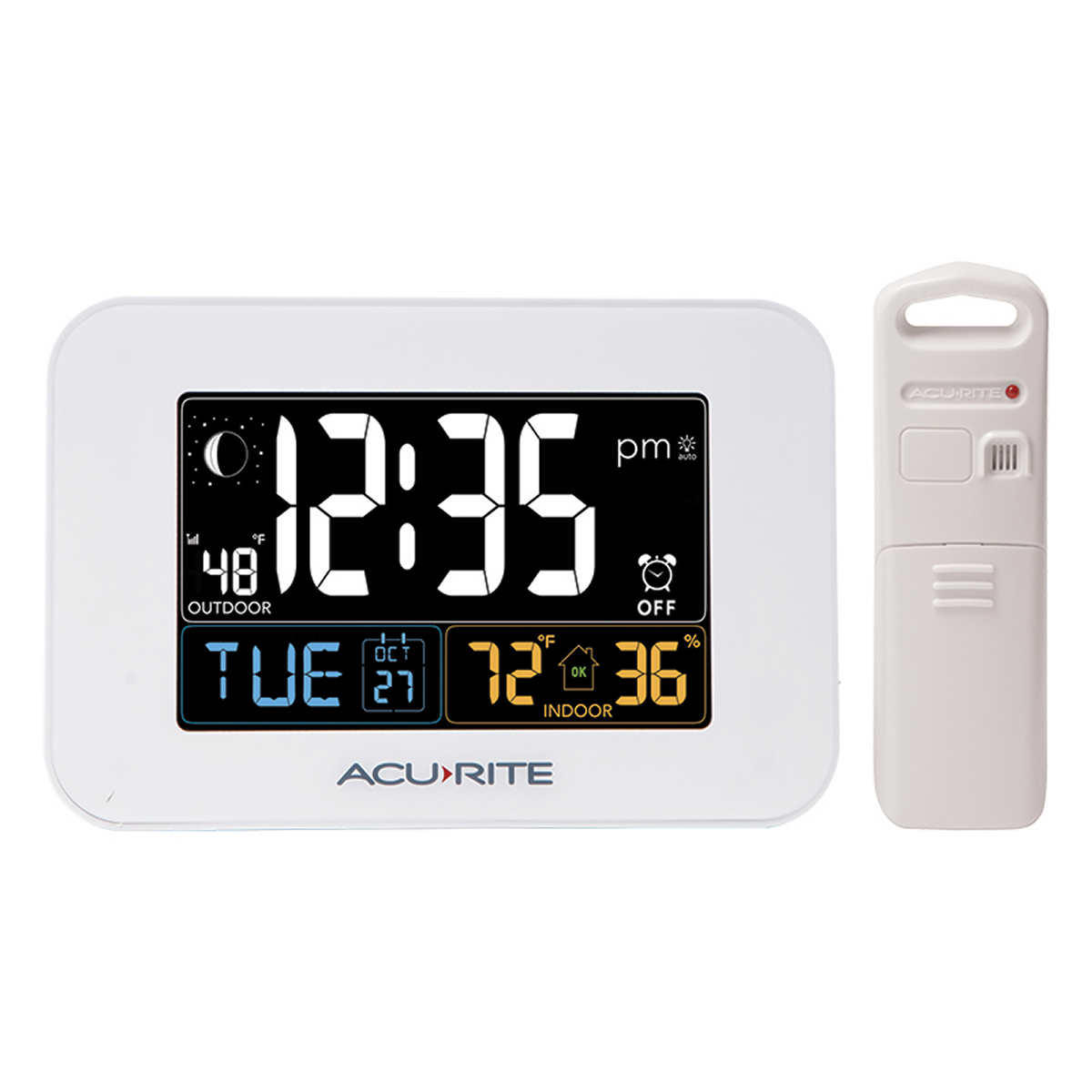 Acurite intelli time alarm clock with indoor and outdoor features click to zoom amipublicfo Image collections