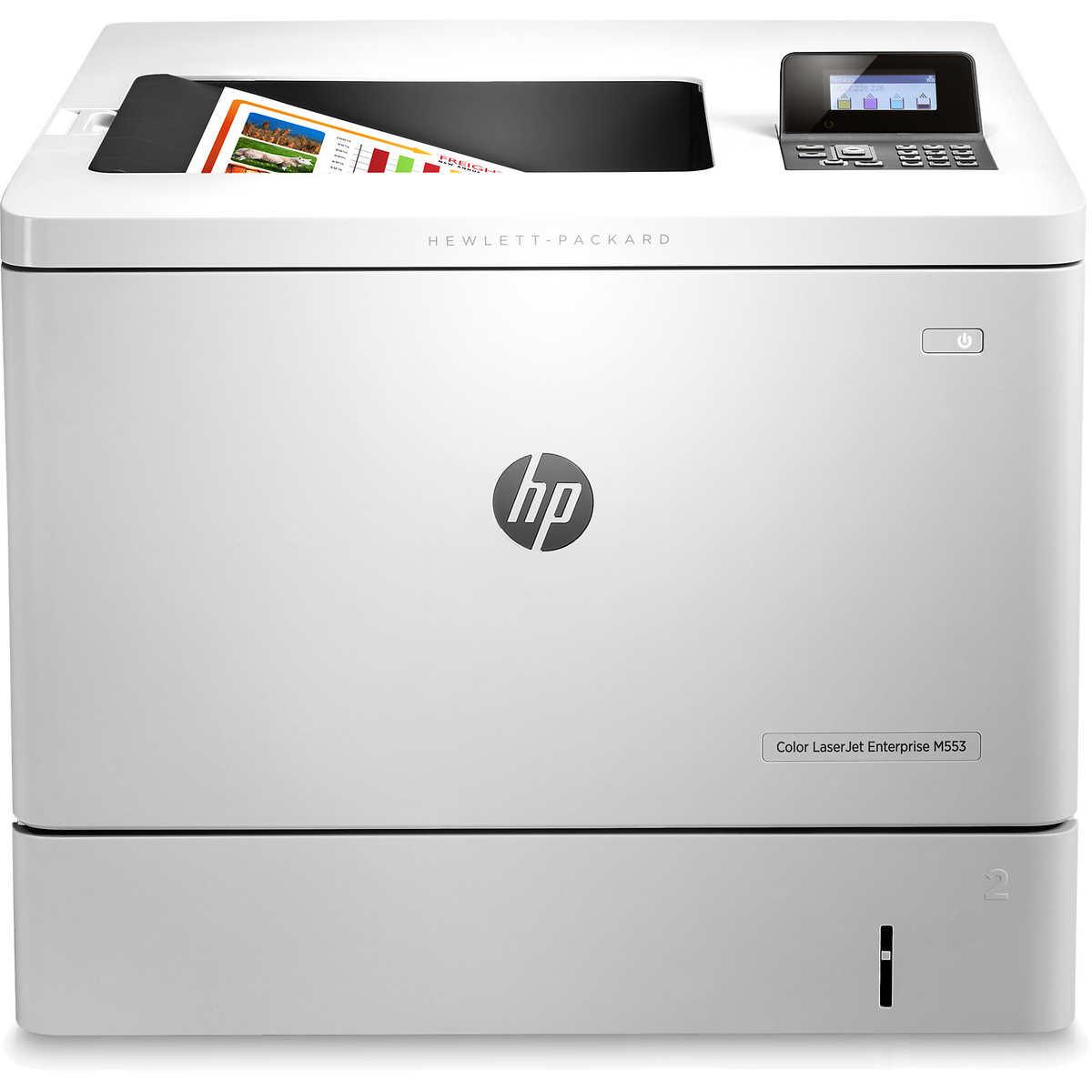 Color printing office depot - Hp Color Laserjet Enterprise M553n Printer