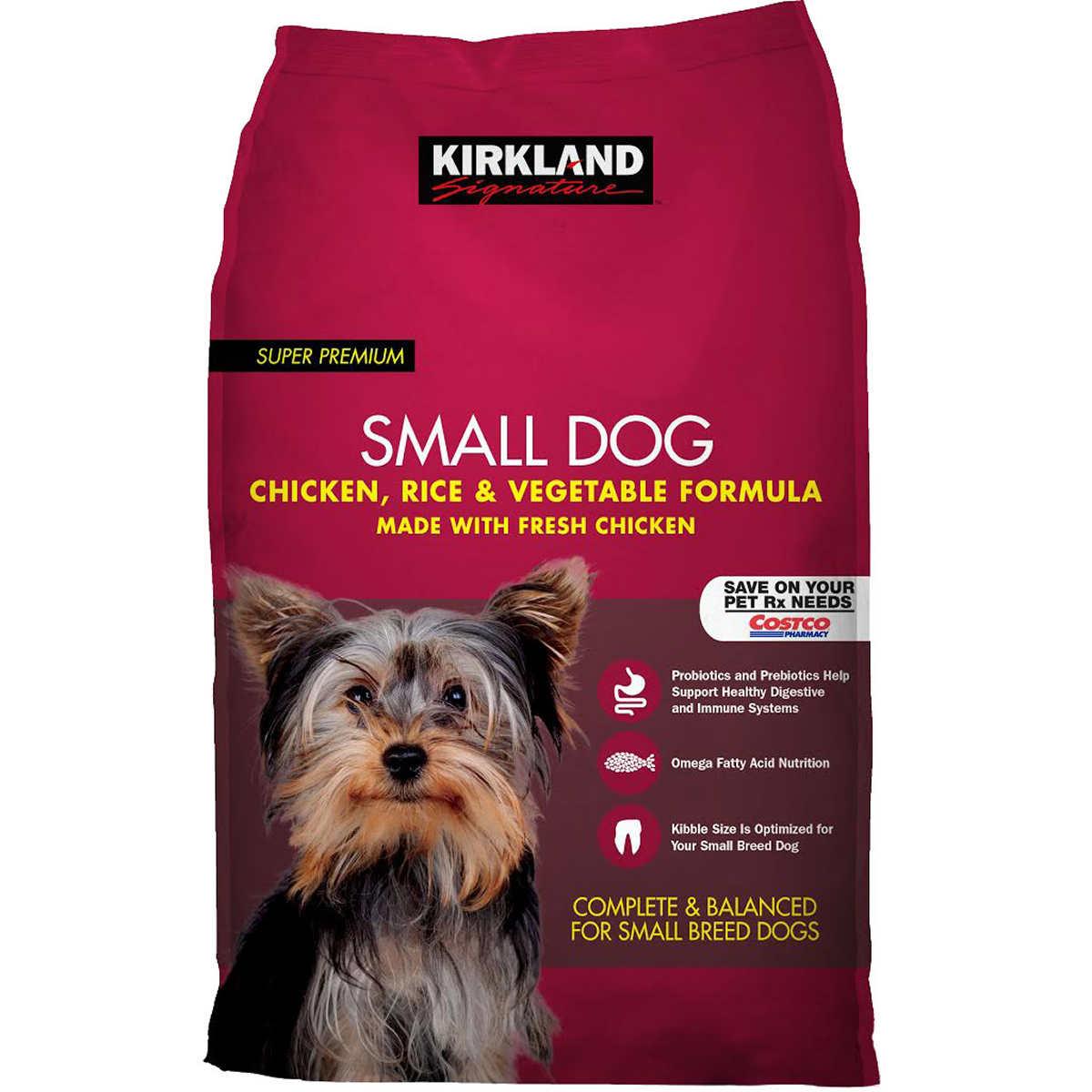 Kirkland Signature Small Formula Chicken Vegetable Dog Food 20 Lb