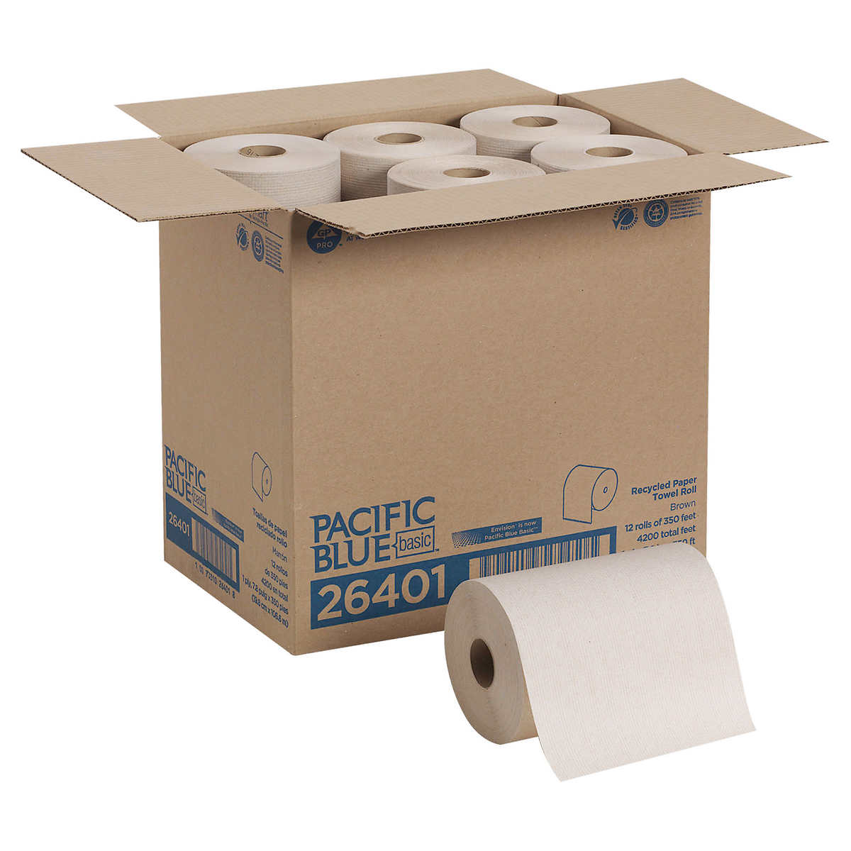 georgia pacific envision paper towel rolls 1 ply brown 12ct